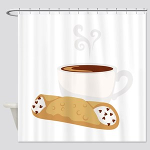 Cannoli & Coffee Shower Curtain
