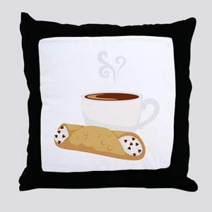 Cannoli & Coffee Throw Pillow