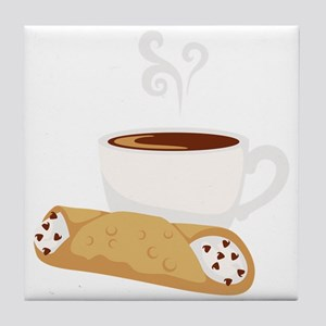 Cannoli & Coffee Tile Coaster