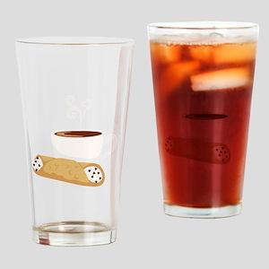 Cannoli & Coffee Drinking Glass