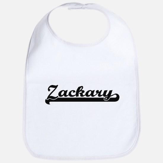 Zackary Classic Retro Name Design Bib