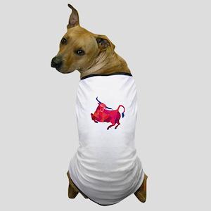 Texas Longhorn Bull Prancing Low Polygon Dog T-Shi