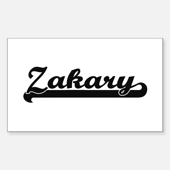 Zakary Classic Retro Name Design Decal