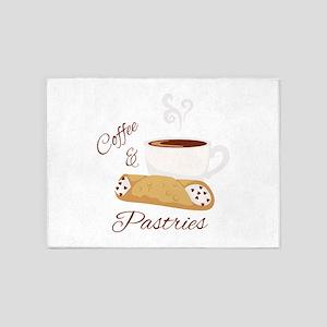 Coffee & Pastries 5'x7'Area Rug