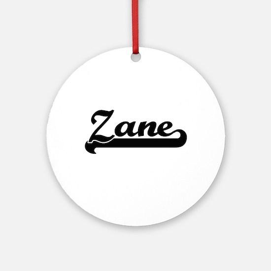 Zane Classic Retro Name Design Ornament (Round)