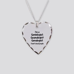 I Hunt Dead People Necklace Heart Charm
