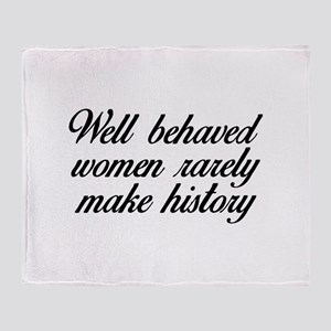 Well Behaved Women Stadium Blanket