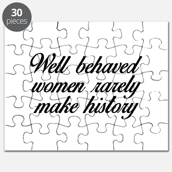 Well Behaved Women Puzzle