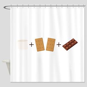 Smores Ingredients Shower Curtain