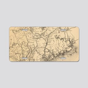 Vintage Map of Maine (1894) Aluminum License Plate