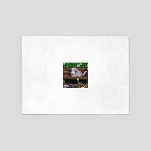 White ebony chinchilla 5'x7'Area Rug