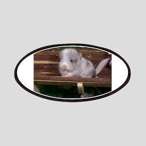 White ebony chinchilla Patch