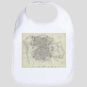 Vintage Map of Madrid Spain (1831) Bib