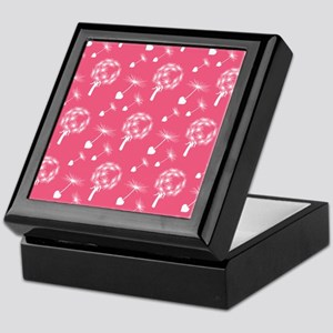 Pink Dandelion Heart Seeds Keepsake Box