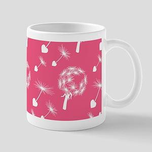 Pink Dandelion Heart Seeds Mug