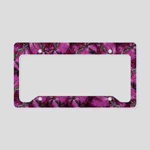 Dragonfly Plum Flit License Plate Holder