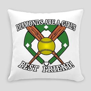 Softball Diamonds Best Friend! Everyday Pillow