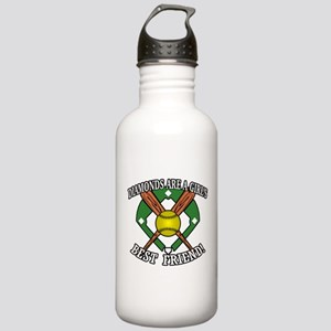 Softball Diamonds Best Friend! Water Bottle