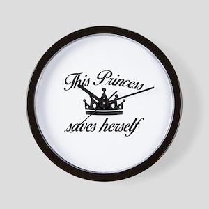 This Princess Saves Herself Wall Clock