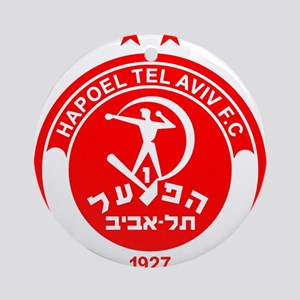 Hapoel Tel Aviv Football Soccer I Ornament (Round)