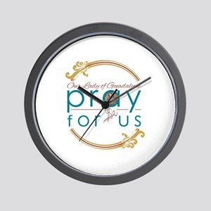 Our Lady of Guadalupe: Pray for Us Wall Clock