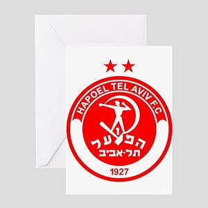 Hapoel Tel Aviv Football Soccer Isr Greeting Cards