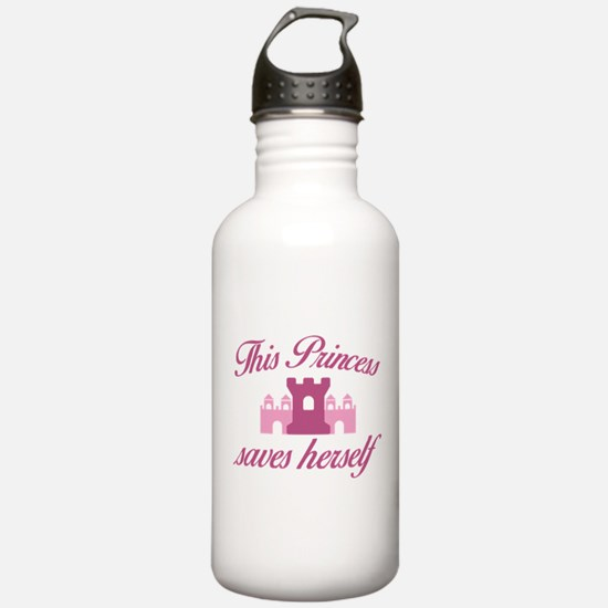 This Princess Saves Herself Water Bottle