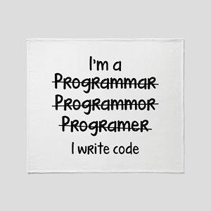 I Write Code Stadium Blanket