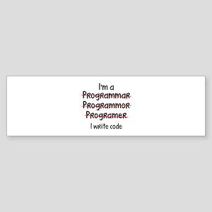 I Write Code Sticker (Bumper)