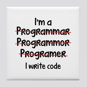 I Write Code Tile Coaster