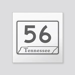 "State Route 56, Tennessee Square Sticker 3"" x 3"""