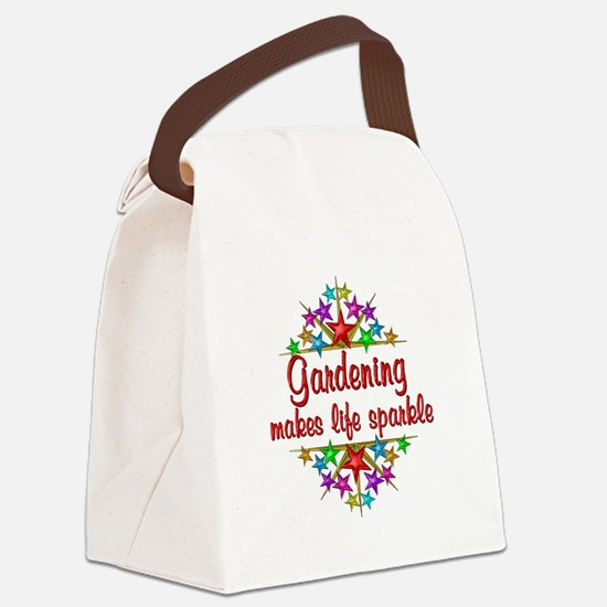 Gardening Sparkles Canvas Lunch Bag