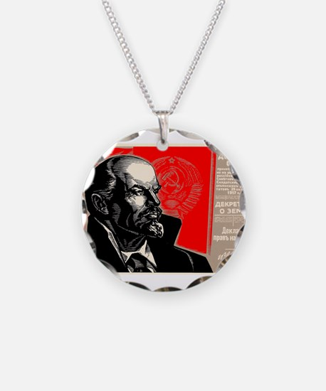 Lenin Marxist Quotes Red Sov Necklace