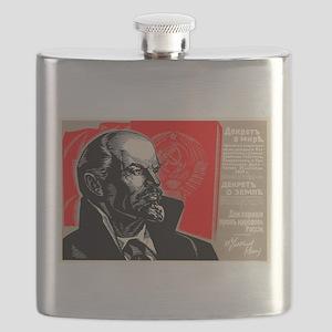 Lenin Marxist Quotes Red Soviet Revolution B Flask