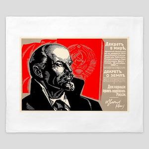 Lenin Marxist Quotes Red Soviet Revolut King Duvet