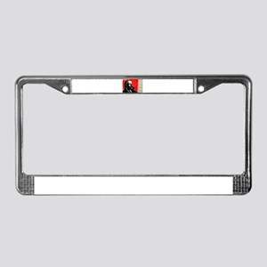 Lenin Marxist Quotes Red Sovie License Plate Frame