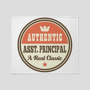 Asst Principal Funny Vintage Throw Blanket