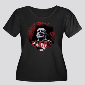 Kingpin Women's Plus Size Scoop Neck Dark T-Shirt