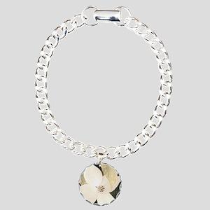Dogwood Charm Bracelet, One Charm