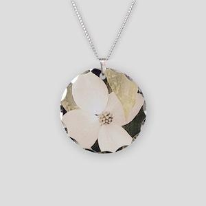 Dogwood Necklace Circle Charm