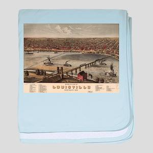 Vintage Pictorial Map of Louisville ( baby blanket