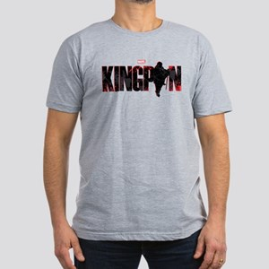 Kingpin Word Men's Fitted T-Shirt (dark)