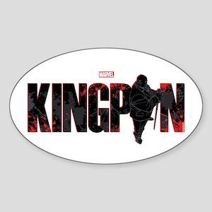 Kingpin Word Sticker (Oval)