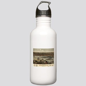 Vintage Pictorial Map Stainless Water Bottle 1.0L
