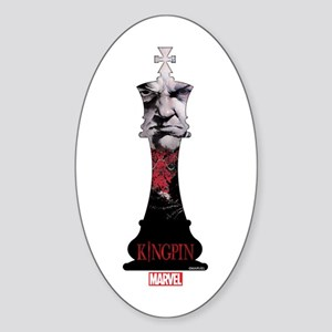 Kingpin Chesspiece Sticker (Oval)