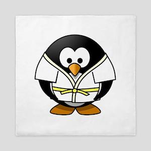Judo Penguin Queen Duvet
