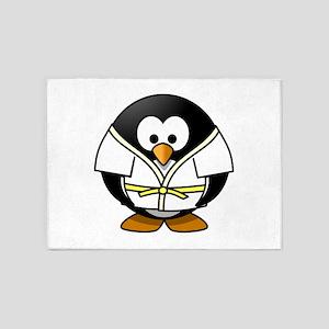Judo Penguin 5'x7'Area Rug