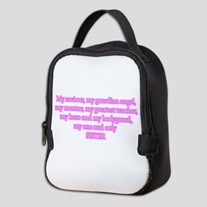 My one and only sister poem Neoprene Lunch Bag
