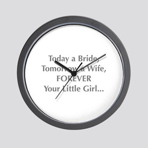 Bride Poem to Parents Wall Clock