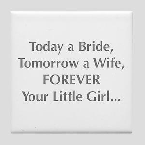 Bride Poem to Parents Tile Coaster